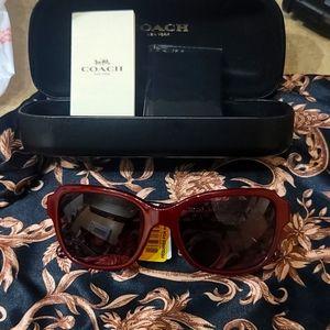 Burgundy Coach Sunglasses